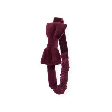 Rich Purple Velveteen Bow Headband at JanieandJack