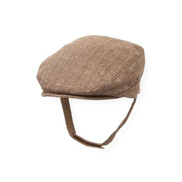 Baby Boy Brown Herringbone Herringbone Cap at JanieandJack