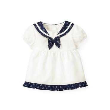 Baby Girl Jet Ivory Sailor Top at JanieandJack