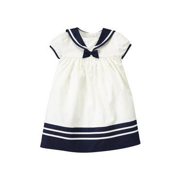 Baby Girl Jet Ivory Sailor Dress at JanieandJack