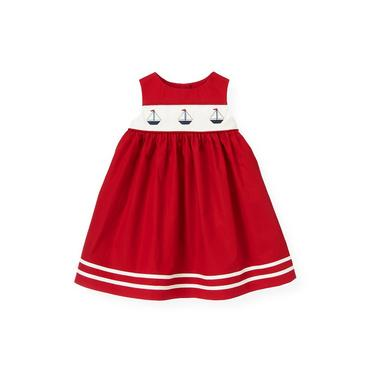 Baby Girl Nautical Red Sailboat Jumper at JanieandJack