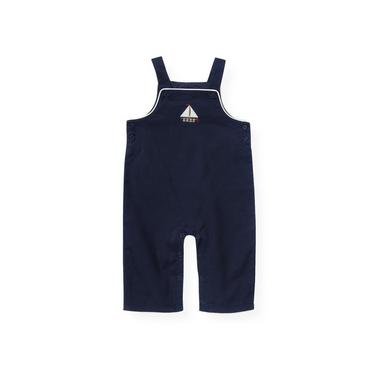 Baby Boy Nautical Navy Sailboat Overall at JanieandJack
