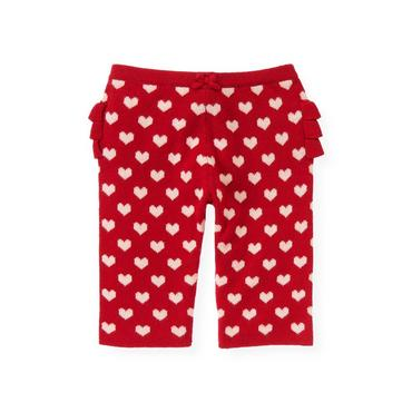 Baby Girl Valentine Red Heart Sweater Pant at JanieandJack