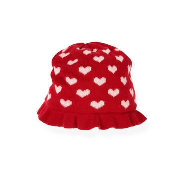 Valentine Red Heart Sweater Hat at JanieandJack