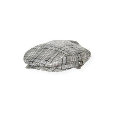 Boys Winter Grey Plaid Plaid Cap at JanieandJack