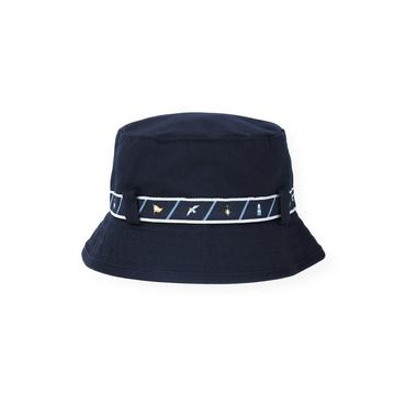 Boys Marine Navy Belted Bucket Hat at JanieandJack