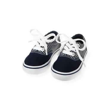 Marine Navy Check Checked Sneaker at JanieandJack