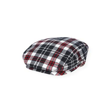 Boys Valentine Red Plaid Plaid Cap at JanieandJack