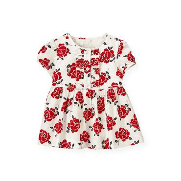 Cinnamon Red Floral Floral Top at JanieandJack