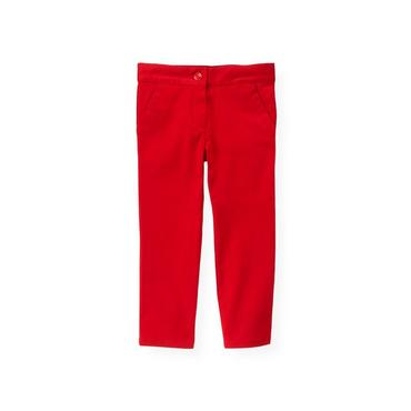 Cinnamon Red Sateen Pant at JanieandJack