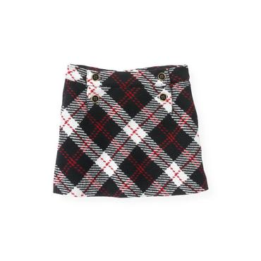 Classic Black Plaid Tweed Plaid Skirt at JanieandJack