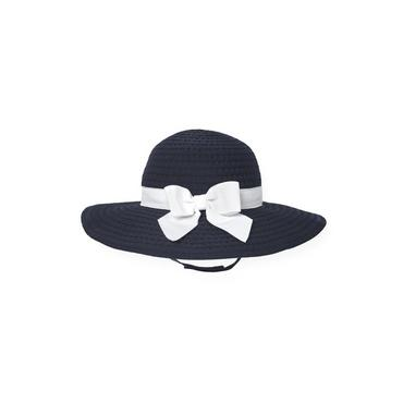 Resort Navy Bow Grosgrain Ribbon Hat at JanieandJack
