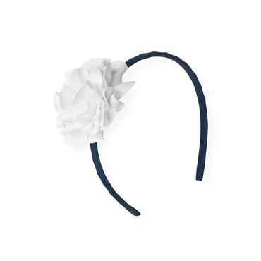 Jet Ivory Grosgrain Ribbon Rosette Headband at JanieandJack