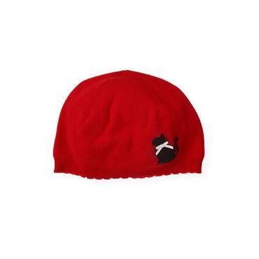 Cinnamon Red Kitty Sweater Hat at JanieandJack