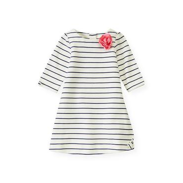 Nautical Stripe Rosette Stripe Dress at JanieandJack