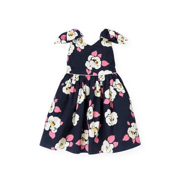 Azalea Navy Floral Bow Floral Dress at JanieandJack