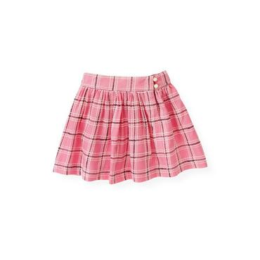 Azalea Pink Plaid Plaid Skirt at JanieandJack