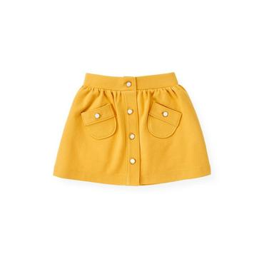 Yellow Button Ponte Skirt at JanieandJack