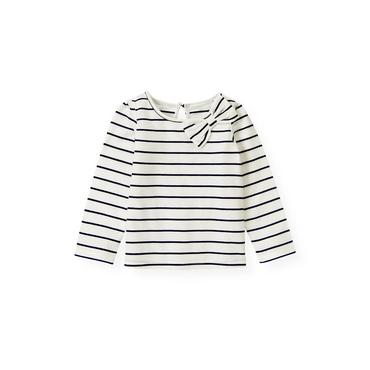 Nautical Stripe Bow Stripe Top at JanieandJack