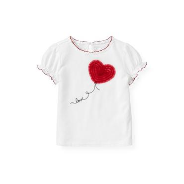 Jet Ivory Heart Balloon Top at JanieandJack