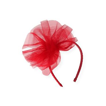 Valentine Red Tulle Pouf Headband at JanieandJack