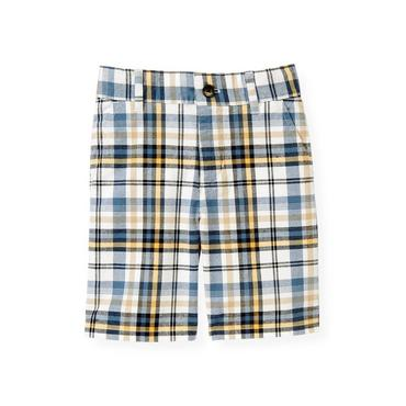 Boys Yellow Sail Plaid Plaid Short at JanieandJack