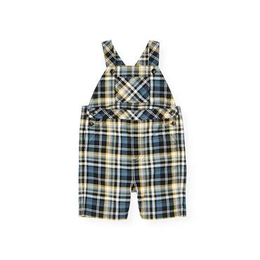 Boys Marine Navy Plaid Plaid Shortall at JanieandJack