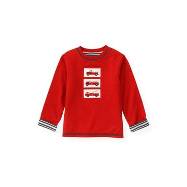 Fire Engine Red Fire Engine Reversible Tee at JanieandJack