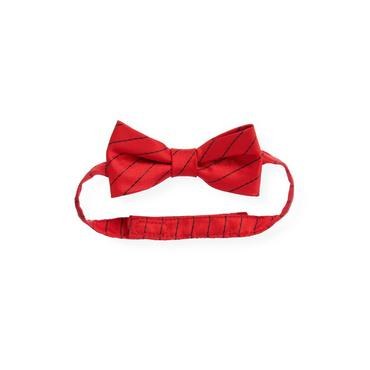 Boys Fire Engine Red Stripe Stripe Bowtie at JanieandJack