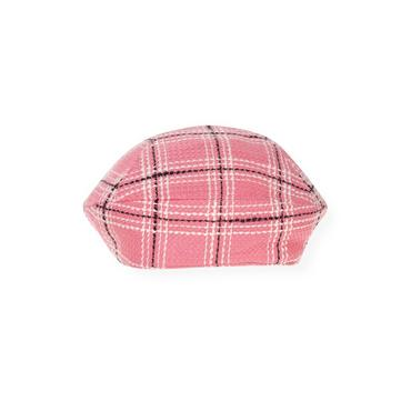 Azalea Pink Plaid Plaid Beret at JanieandJack