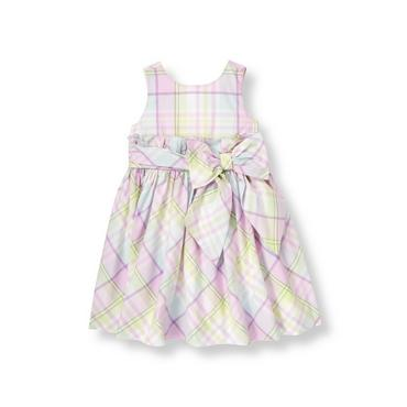 Purple Petunia Plaid Ruffle Plaid Dress at JanieandJack