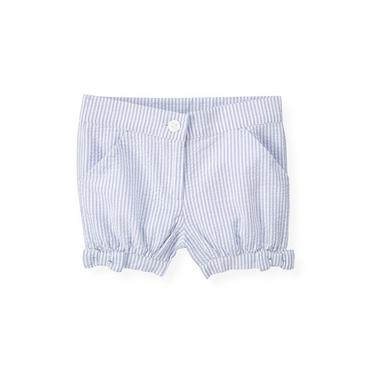 Purple Linen Stripe Stripe Seersucker Short at JanieandJack