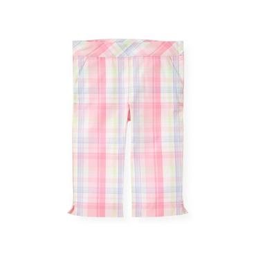Pale Pink Plaid Plaid Crop Pant at JanieandJack