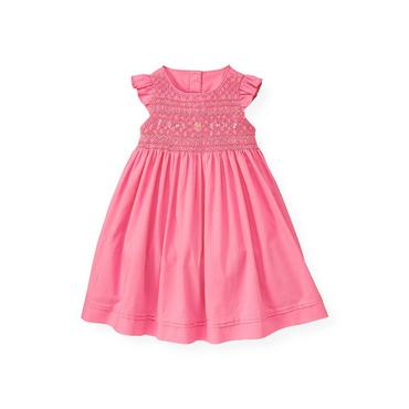 Butterfly Pink Hand-Smocked Batiste Dress at JanieandJack