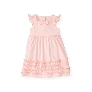 Pale Pink Ruffle Knit Dress at JanieandJack