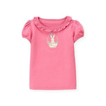 Butterfly Pink Bunny Basket Top at JanieandJack