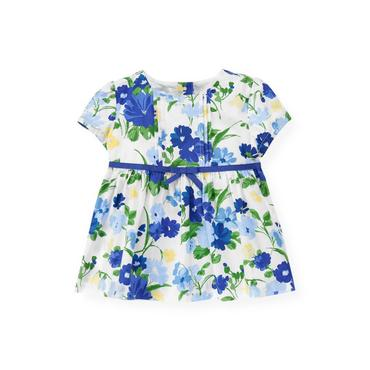 Bright Blue Floral Pintucked Floral Top at JanieandJack