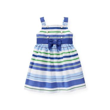 Bright Blue Stripe Stripe Dress at JanieandJack