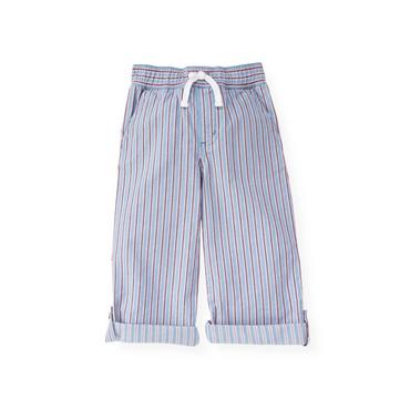 Boys Blue Oxford Stripe Stripe Roll Cuff Pant at JanieandJack