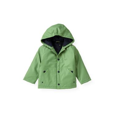 Frog Green Hooded Rain Coat at JanieandJack
