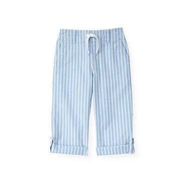 Boys Blue Kelp Ministripe Stripe Roll Cuff Pant at JanieandJack