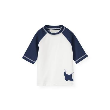 Pure White Sting Ray Rash Guard at JanieandJack