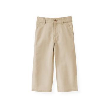 Boys Classic Khaki Khaki Linen Blend Pant at JanieandJack