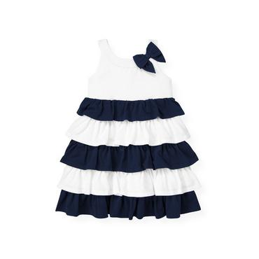 Classic Navy Tiered Tank Knit Dress at JanieandJack
