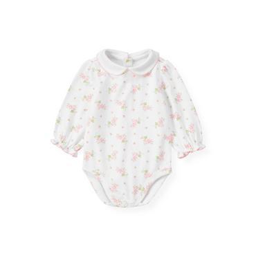 Baby Girl Barely Pink Floral Floral Collar Bodysuit at JanieandJack