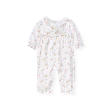 Baby Girl Barely Pink Floral Floral Kimono One-Piece at JanieandJack