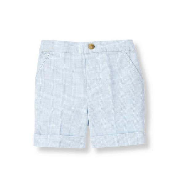 Houndstooth Linen Blend Short