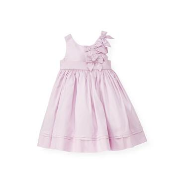 Pale Lavender Bow Bodice Silk Dress at JanieandJack