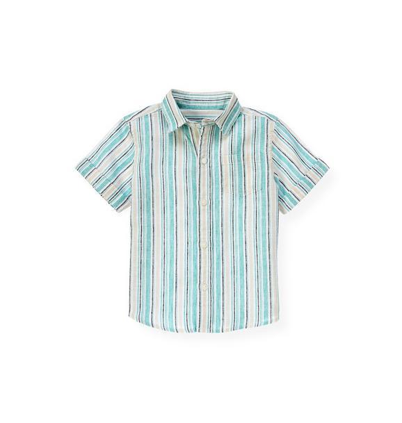 Linen Blend Stripe Shirt
