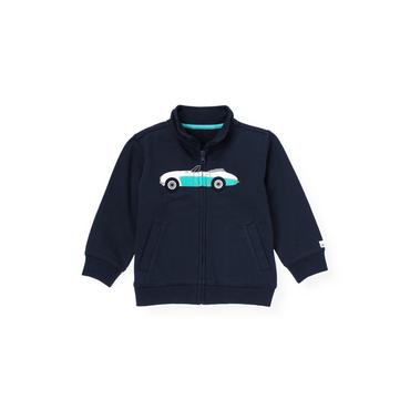 Classic Navy Convertible Car Zip Cardigan at JanieandJack